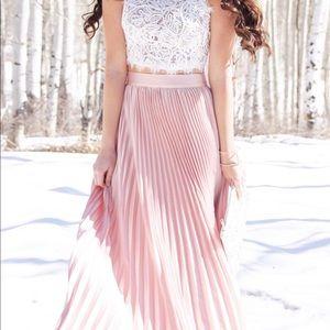 Promesa Accordion Pleated Maxi Skirt